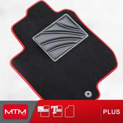 es. tapis conducteur MTM Plus - talonnette en caoutchouc - bordure rouge coton antiderapant