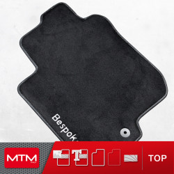 es. tapis de sol auto MTM Top - bordure noire similicuir - surpiqure blanche